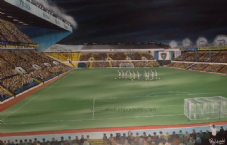 'Marching on Together' - Elland Road Memory 20'' x 30'' Box Canvas Print